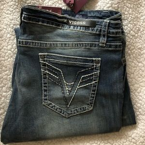 NWT Vigoss size 22 slim boot heritage jeans.